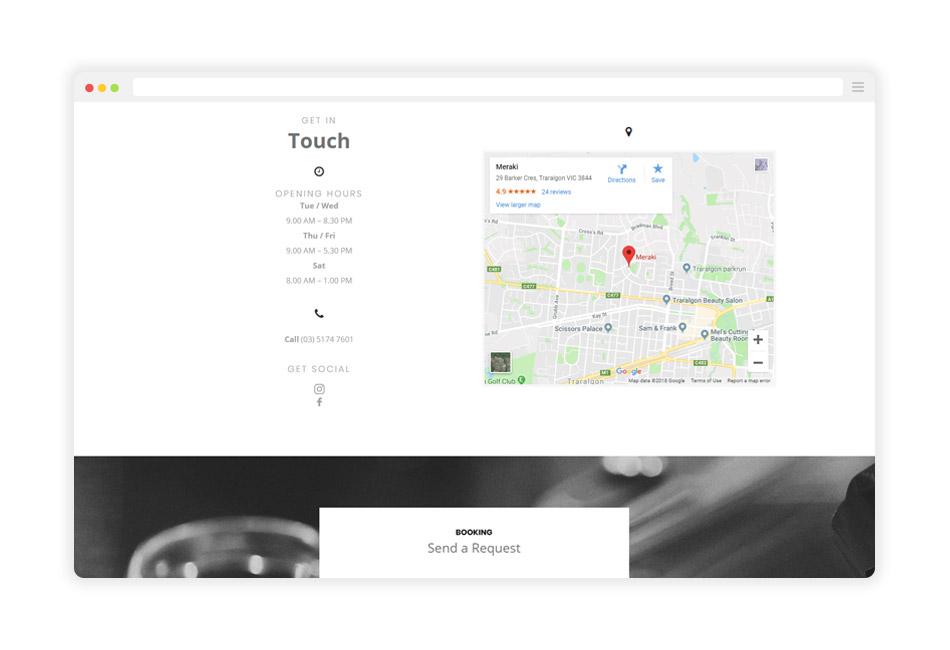 Meraki-Website-Contact-Mockup